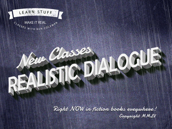 realistic dialogue writer's workshop